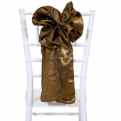 "DecoStar™ 9"" Satin Flower Chair Accent - Bronze"