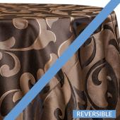 Brown - Laura Designer Tablecloths by Eastern Mills - Many Size Options