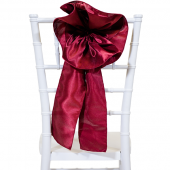 "DecoStar™ 9"" Satin Flower Chair Accent - Burgundy"
