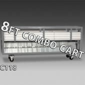 8ft Combo Cart - Up to 75 8ft Uprights & Bases
