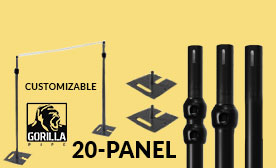 20 Panel Black Anodized Kits (140-240 Feet Wide)