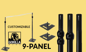 9-Panel Black Anodized Kits (63-108 Feet Wide)
