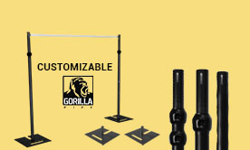 Black Anodized Pipe & Drape Kits
