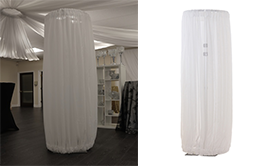Adjustable Fabric Columns