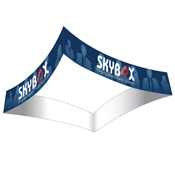 Square Curved Hanging Banners