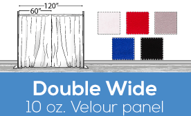 "10oz Performance Double Wide (120"") Velour Panels"