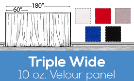 "10oz Performance Triple Wide (180"") Velour Panels"