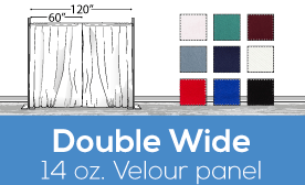 "14oz Performance Double Wide (120"") Velour Panels"