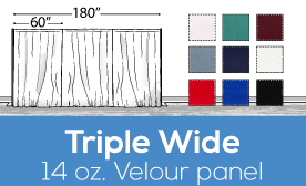 "14oz Performance Triple Wide (180"") Velour Panels"