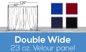 "23oz Performance Double Wide (120"") Velour Panels"