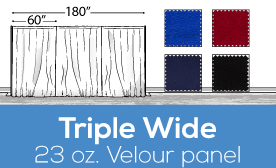 "23oz Performance Triple Wide (180"") Velour Panels"