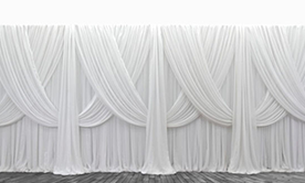 Premium Criss-Cross Curtain Backdrop