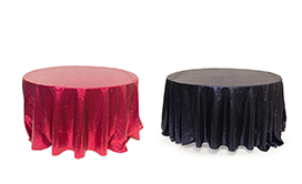 Round Sequin Tablecloths