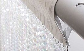 Satin Top Crystal Curtains