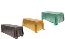 Square & Rectangle Sequin Tablecloths