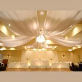 6-Panel Sheer Voile 21ft Ceiling Draping Kit (44 Feet Wide)