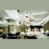 8-Panel Sheer Voile 40ft Ceiling Draping Kit (82 Feet Wide)