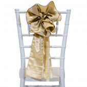 "DecoStar™ 9"" Satin Flower Chair Accent - Champagne"