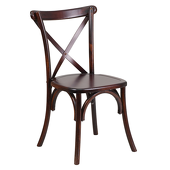 Wooden Crossback Chair - Stained Chestnut