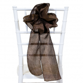 "DecoStar™ 9"" Crushed Taffeta Flower Chair Accent - Chocolate Brown"