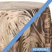 Copper - Stormy Tablecloths - DOUBLE-SIDED - MANY SIZE OPTIONS