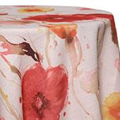 Coral - Monet Tablecloths - MANY SIZE OPTIONS