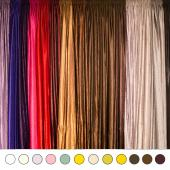 "*FR* Extra Wide 14ft Tall Crushed Taffeta Drape Panel by Eastern Mills 9 1/2 FT Wide w/ 4"" Sewn Rod Pocket in Choice of 28 Colors!"