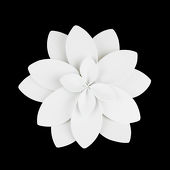 DecoStar™ Lily Foam Flower - Variety of Sizes - White