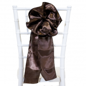 "DecoStar™ 9"" Satin Flower Chair Accent - Dark Brown"