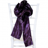 "DecoStar™ 9"" Satin Flower Chair Accent - Dark Purple"
