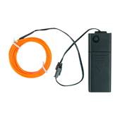Battery-Operated Electroluminescent (EL) Wire - 6ft (1.8M) Long - Dark Orange