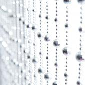 DecoStar™ 6ft Disco Ball Beaded Curtain in Silver