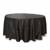Ebony - Hiren Designer Tablecloths - Many Size Options