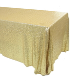 Gold Square Sequin Tablecloth by Eastern Mills - Premium Quality - Choose your Size!
