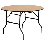 "48"" Round Plywood Table"