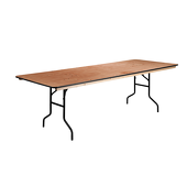 8FT 36X96 Wide Plywood Table
