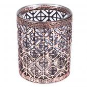 DecoStar™ Bronze Encased Glass Votive - 4""