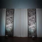 White Floral Felt Cutout for Backdrop Panel - 18ft