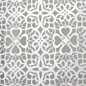 White Patterned Felt Cutout for Backdrop Panel - 10ft