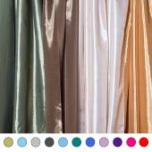 "*FR* Extra Wide 12ft Tall Taffeta Drape Panel by Eastern Mills 9 1/2 FT Wide w/ 4"" Sewn Rod Pocket in Choice of 28 Colors!"