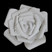 DecoStar™ Rose Foam Flower - Variety of Sizes - White