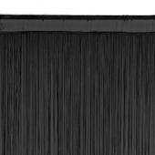 String Curtain - 6.6ft Wide x 10ft Tall - 1700 Strings - BLACK