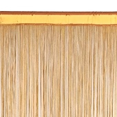 String Curtain - 6.6ft Wide x 10ft Tall - 1700 Strings - GOLD