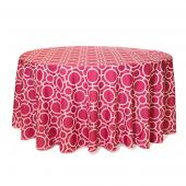 Fuchsia - Roundabouts Designer Tablecloths - Many Size Options