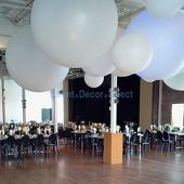 Giant 12ft Latex Balloon for Wedding/Event Decor - No Helium Required - CHANGE COLOR WITH UPLIGHTING!