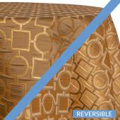 Gold - Links Designer Tablecloths - Many Size Options