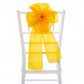 "DecoStar™ 9"" Taffeta Flower Chair Accent - Gold"