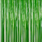 Green - Plastic Wet Look Fringe Curtain - Many Size Options