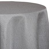Grey - Designer Glitz Linen Broad Tablecloth by Eastern Mills - Many Size Options