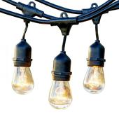 Hanging Cafe Light Strand - Comes w/ 28 Bulbs - 54ft Strand